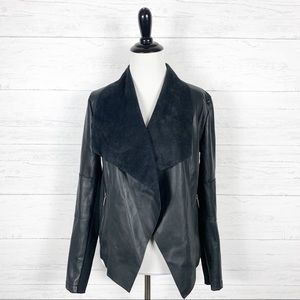 Bar III • Black Faux Leather Jacket